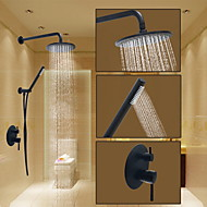 Round Shower System Wall Mount Ceramic Valve Oil-rubbed Bronze , Shower Faucet