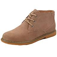 Masculino sapatos Couro Ecológico Primavera Outono Solados com Luzes Botas Botas Cano Médio Cadarço Para Casual Preto Cinzento Marron