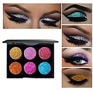 6 Paleta de Sombras Paleta da sombra Maquiagem para o Dia A Dia Maquiagem para Dias das Bruxas Maquiagem de Festa Maquiagem Olho de Gato