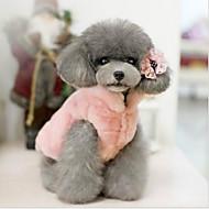 Χαμηλού Κόστους Χριστουγεννιάτικα κοστούμια για κατοικ-Γάτα Σκύλος Χριστούγεννα Ρούχα για σκύλους Μονόχρωμο Μπεζ Φούξια Ροζ Βαμβάκι Στολές Για κατοικίδια Φορέματα&Φούστες Καθημερινά Θερμαντικά