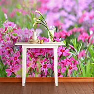 billige Tapet-Mønster 3D Blomst Tapet til Hjemmet Rustikk Tapetsering , Lerret Materiale selvklebende nødvendig bakgrunns , Tapet