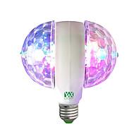 billige Globepærer med LED-ywxlight® julestadslampe ledet rgb e27 85-265v automatisk roterende energisparende lyspære til fester