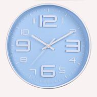 מודרני / עכשווי קאנטרי משרד / עסקים ימי חופשה חתונה שעון קיר,עגול מצחיק מתכת פלסטיק בבית שָׁעוֹן