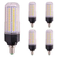 billige Kornpærer med LED-5pcs 13W 1200lm LED-kornpærer E27 / E14 144 LED perler SMD 5730 Varm hvit Kjølig hvit 85-265V