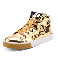 Men's Shoes Customized Materials Fall Comfort Sneakers Lace-up For Casual Outdoor Silver Black Gold