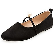 Women's Shoes Cashmere Fall Comfort Flats Flat Heel Round Toe For Casual Camel Black