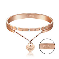 Personalized Gift Bracelet Titanium Steel Rhinestones