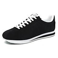 halpa -Miehet kengät Comfort Lenkkitossut Jouksu varten Kausaliteetti Valkoinen Musta