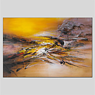 cheap Oil Paintings-Oil Painting Hand Painted - Abstract Abstract Canvas