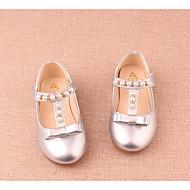 tanie Obuwie dziewczęce-Dla dziewczynek Buty Derma Zima Jesień Comfort Mokasyny i pantofle na Casual Gold Silver