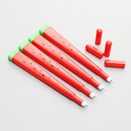 12 stuks watermeloen siliconen zwarte inkt gel pen