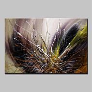 billige Nyheter-Hang malte oljemaleri Håndmalte - Abstrakt Abstrakt Moderne Lerret