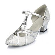 tanie -Damskie Taniec nowoczesny Derma Sandały Adidasy Profesjonalne Klamra Szpilka Gold Silver Personlaizowane