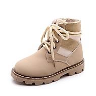 男の子 靴 レザーレット 秋 冬 コンフォートシューズ スノーブーツ ファッションブーツ ブーツ ジッパー 編み上げ 用途 カジュアル ブラック ベージュ Brown