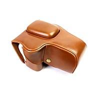 billige Etuier, vesker og stropper-dengpin pu lær kamerataske bagdeksel for Canon Eos 200d 18-55mm linse (diverse farger)