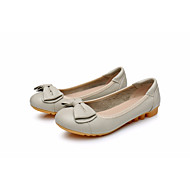 Women's Shoes Real Leather Fall Winter Ballerina Flats Flat Heel Round Toe For Casual Red Yellow Beige Black