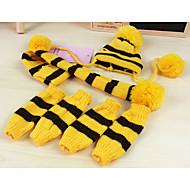 Cachorro Meias Bandanas & Chapéus Roupas para Cães Quente Mantenha Quente Riscas Amarelo Rosa claro Arco-Íris Ocasiões Especiais Para