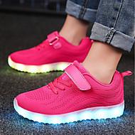 baratos Sapatos de Menino-Para Meninos Sapatos Arrastão / Tecido Outono Conforto / Tênis com LED Tênis Velcro / LED para Azul Escuro / Cinzento / Rosa claro