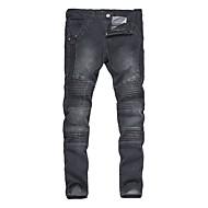 Herre Vintage Boheme Punk & gotisk Mikroelastisk Skinny Jeans Bukser, Alm. taljede Bomuld Polyester Ensfarvet Alle årstider