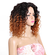 человеческие волосы бразильские ombre волосы соткают свободные волосы наращивание волос 8 штук черный / бордовый черный / средний