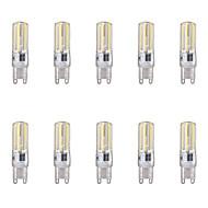 billige Bi-pin lamper med LED-10pcs 4W G9 LED-lamper med G-sokkel 4 leds COB Varm hvit Kjølig hvit 350lm 6500/3500K AC 220-240V