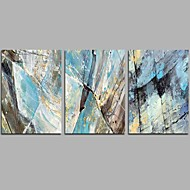Hand-Painted Abstract Horizontal Panoramic,Comtemporary Simple Three Panels Canvas Oil Painting For Home Decoration