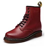 Herre sko Egte Lær Vår Høst Komfort Støvler Til Avslappet Svart Vin Mørkebrun