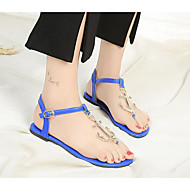 baratos Sapatos Femininos-Mulheres Sapatos Couro Ecológico Verão Conforto Sandálias Preto / Vermelho / Azul