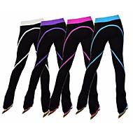 Strømpebukser til kunstskøjteløb Dame Pige Skøjteløb Bukser Træningsdragt Rosa Rød Grøn Blå Lys pink Strækkende Ydeevne Øvelse Skøjtetøj