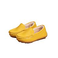 tanie Obuwie dziewczęce-Dla dziewczynek Buty Syntetyczny Zima Podszewka Fluff Mokasyny Comfort Mokasyny i pantofle na Casual Formalne spotkania White Yellow