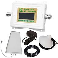 mini display lcd inteligente 4g980 2600mhz repetidor de reforço de sinal de telefone celular com antena periódica de registro externo /
