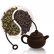 Silikon Teebeutel Tee Topf Form Filter Infuser Kaffee Sieb Zubehör zufällige Farbe