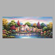 מצויר ביד אנשים אופקי,כפרי פסטורלי בד ציור שמן צבוע-Hang For קישוט הבית
