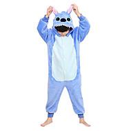 Kigurumi Pijamas Monstro Ocasiões Especiais Azul Kigurumi Malha Collant / Pijama Macacão Cosplay Festival / Celebração Pijamas Animais