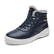 Bărbați Pantofi Piele Iarnă Confortabili Cizme de Zăpadă Cizme la Modă Fur de căptușeală Cizme Dantelă Pentru Casual Negru Maro Albastru