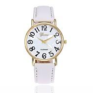 Муж. Жен. Наручные часы Кварцевый Кожа Черный / Белый / Синий Повседневные часы Аналоговый Кулоны Мода - Розовый Хаки Светло-Зеленый