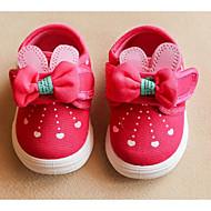 baratos Sapatos de Menina-Para Meninas sapatos Lona Primavera Outono Conforto Rasos para Casual Pêssego Azul Rosa claro