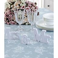 halpa -3kpl / set hääkoristeet mr&mrs mariage sisustus syntymäpäivä puolue koristeet valkoinen kirjaimet häät merkki