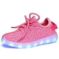 baratos Sapatos de Menino-Para Meninos Sapatos Tricô / Malha Respirável Outono Conforto / Primeiros Passos / Tênis com LED Tênis LED para Azul / Rosa claro / Verde