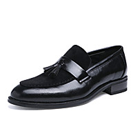 cheap Men's Oxfords-Men's Shoes Leather Spring / Fall Formal Shoes / Bullock shoes Oxfords Walking Shoes Black / Dark Brown