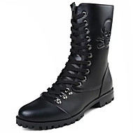 Men's Shoes PU Spring Fall Comfort Boots For Outdoor Black