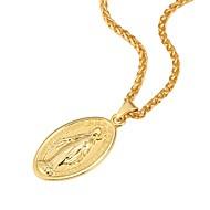 女性用 ペンダントネックレス  -  18Kゴールドメッキ 十字架 ヴィンテージ, ヒップホップ ゴールド, シルバー, ローズゴールド ネックレス 用途 パーティー, 日常