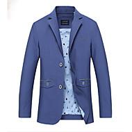 Masculino Terno Casual Simples Inverno Outono,Sólido Padrão Poliéster Colarinho de Camisa Manga Longa