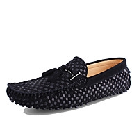 Men's Shoes Real Leather Cowhide Spring Summer Moccasin Loafers & Slip-Ons For Casual Black Dark Blue Blue Burgundy