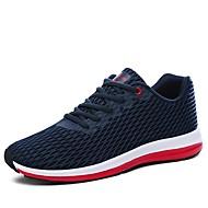 Masculino sapatos Tule Todas as Estações Conforto Solados com Luzes Tênis Caminhada Para Atlético Preto Cinzento Azul