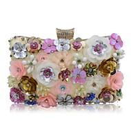 Žene Torbe Poliester Večernja torbica Kristalni detalji Biserni detalji Cvijet za Vjenčanje Zabave Sva doba Light Gold