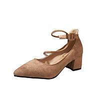 여성 구두 PU 여름 조명 신발 로퍼&슬립-온 낮은 굽 라운드 막상 제품 캐쥬얼 드레스 블랙 브라운