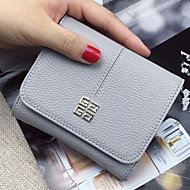 Women Bags PU Coin Purse Buttons for All Seasons Blue Black Blushing Pink Light Gray