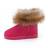 baratos Sapatos de Menina-Para Meninas sapatos Pele Nobuck Pêlo de Cavalo Inverno Outono Botas de Neve Forro de peles Botas Botas Cano Médio para Casual Ao ar livre