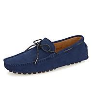 tanie Obuwie męskie-Męskie Buty Skóra Wiosna Lato Mokasyny Mokasyny i pantofle na Casual Na wolnym powietrzu Gray Ciemno niebieski Burgundowy